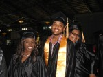 Graduates in the commencement procession