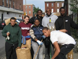 Group with Staff on Make a Difference Day