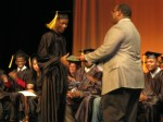 Students recieved diplomas from a family member or mentor