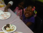 The kids love the cupcakes