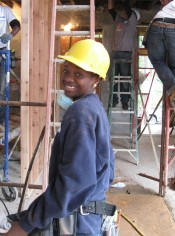 Ciera at her YouthBuild Worksite