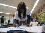 Making shirts for the Clothesline Project