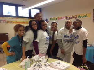 Healthcare students and Ms. Nakesha