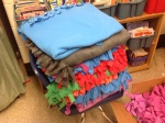 By the end of the day, we had made 35 blankets!