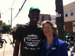 Aaron with YouthBuild founder and CEO Dorothy Stoneman