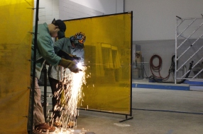 A cohort of students blazed a trail - and lots of metal! - in a new welding partnership with the Finishing Trades Intitute.